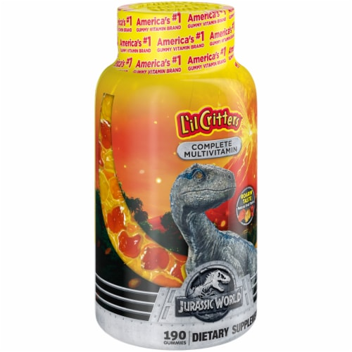 L'il Critters Jurassic World Complete Multivitamin Gummies Perspective: left