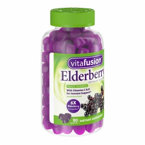 Vitafusion Elderberry Adult Gummies Perspective: left