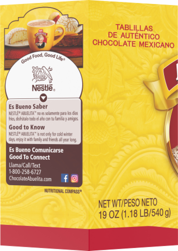 Nestle Abuelita Authentic Mexican Hot Chocolate Drink Tablets Perspective: left