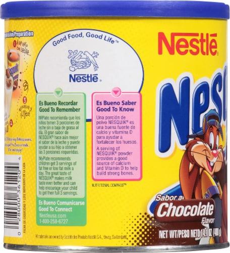 Nestle Nesquik Chocolate Flavor Drink Mix Perspective: left