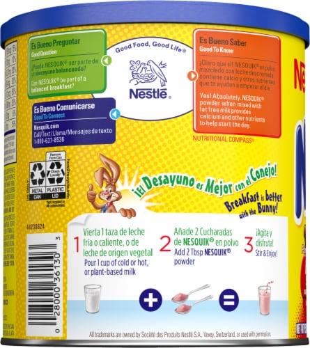 Nesquik Strawberry Flavor Drink Mix Perspective: left