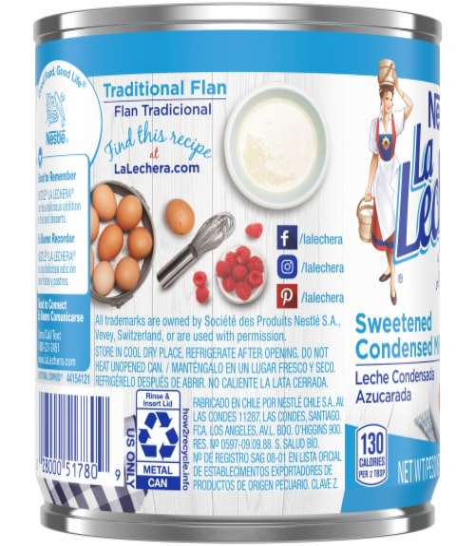 La Lechera Sweetened Condensed Milk Perspective: left