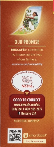 Nescafe Taster's Choice Hazelnut Instant Coffee Packets Perspective: left