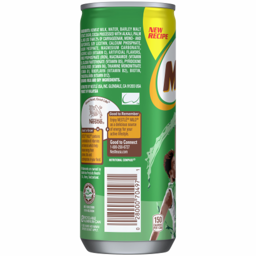 Nestle Milo Chocolate Nutritional Energy Drink Perspective: left