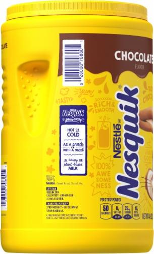 Nesquik Chocolate Powder Drink Mix Perspective: left
