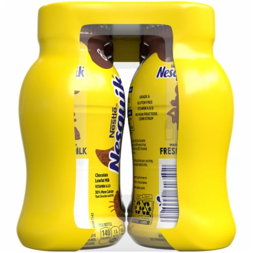 Nesquik Chocolate Low Fat Milk Perspective: left
