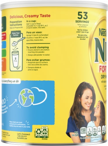 Nestle Nido Fortificada Dry Milk Perspective: left
