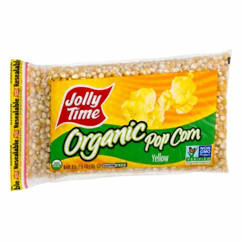 Jolly Time Yellow Organic Popcorn Kernels Perspective: left