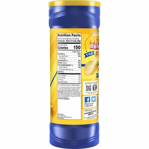 Lay's® Stax® Potato Crisps Original Flavor Chips Container Perspective: left