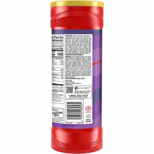 Lay's Stax Potato Crisps Flamas Chips Container Perspective: left