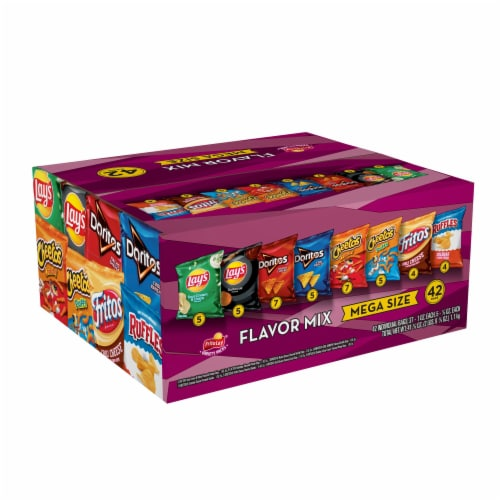 Frito-Lay Mega Size Flavor Mix Snacks and Chips Variety Pack Perspective: left