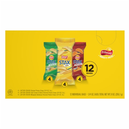 Lay's Stax Potato Crisps Variety Pack Perspective: left