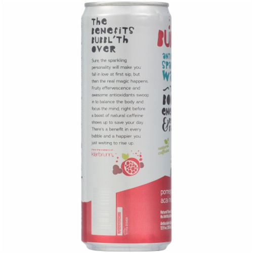 Bubbl'r Pomegranate Acai Refresh'r Sparkling Water Perspective: left