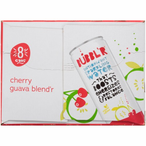 Bubbl'r Cherry Guava Blend'r Sparkling Water Perspective: left