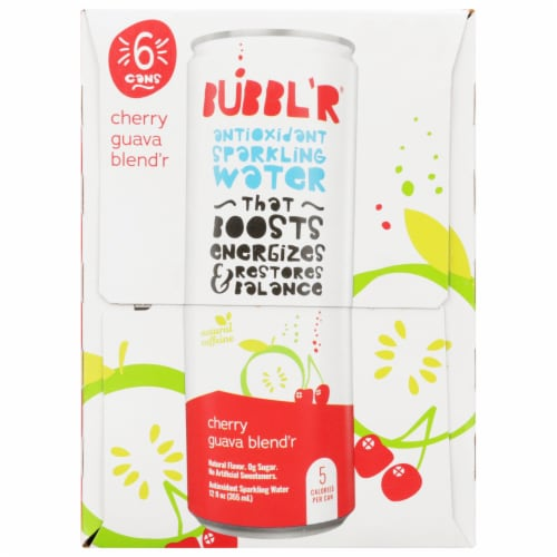 Bubbl'r Cherry Guava Blend'r Antioxidant Sparkling Water Perspective: left