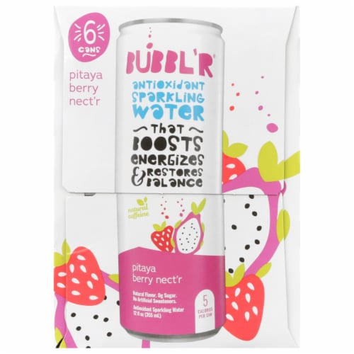 Bubbl'r Pitaya Berry Nect'r Antioxidant Sparkling Water Perspective: left