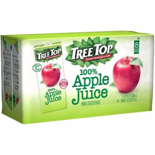 Tree Top 100% Apple Juice Boxes Perspective: left
