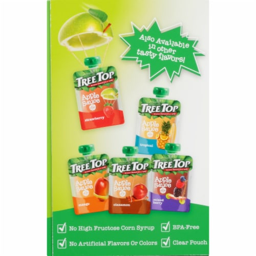Tree Top Applesauce Pouches Perspective: left