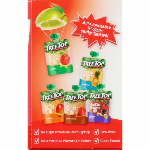 Tree Top Strawberry Apple Sauce Pouches Perspective: left