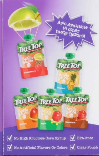 Tree Top Mixed Berry Applesauce Pouch Perspective: left