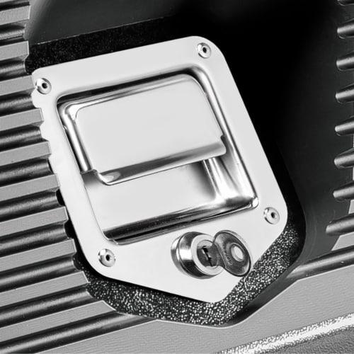 Powerbuilt Rapid Box Portable Slant Front Lockable Toolbox for Truck or Garage Perspective: left
