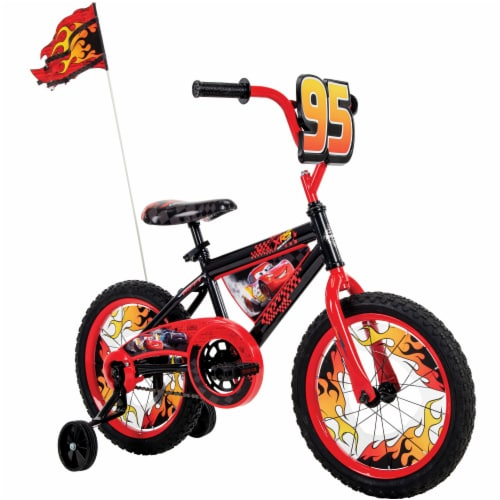 Huffy Disney Pixar Cars Bicycle - Black/Red Perspective: left