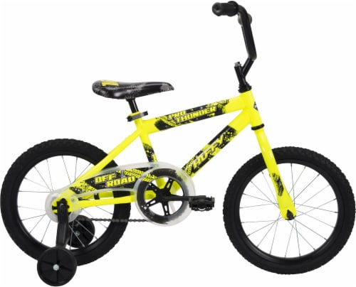 Huffy Pro Thunder Boys' Bicycle - Yellow/Black Perspective: left