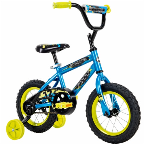 Huffy Pro Thunder Boys Bicycle - Blue/Yellow Perspective: left