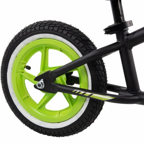 Huffy Lil Cruzier Balance Bicycle - Green/Black Perspective: left