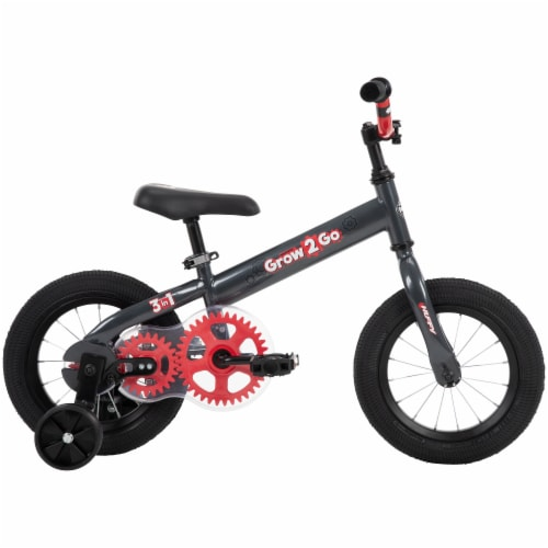 Huffy Grow 2 Go 3-in-1 Boys' Conversion Bicycle - Red/Black Perspective: left