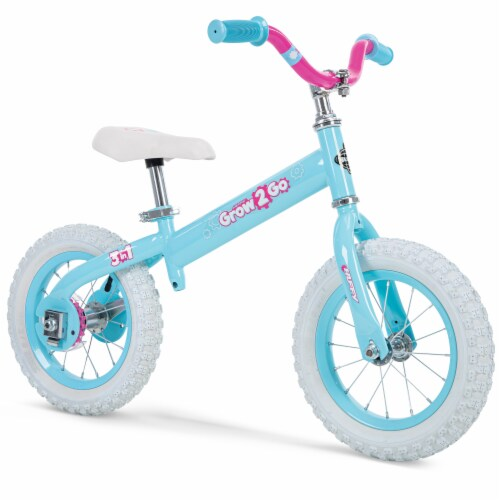 Huffy Grow 2 Go 3-in-1 Girls' Conversion Bicycle - Pink/Teal Perspective: left