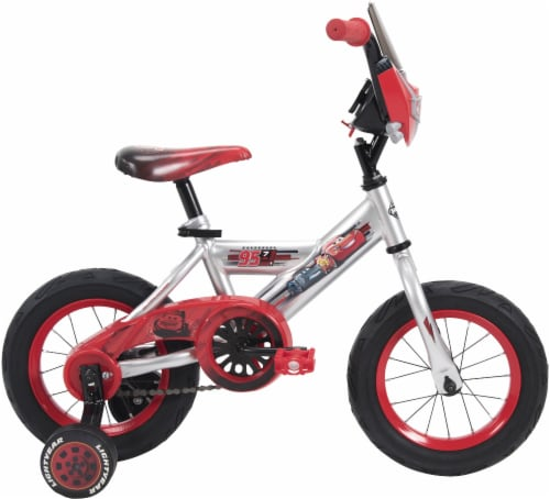 Huffy Boys' Disney/Pixar Cars Bicycle - Silver/Black/Red Perspective: left