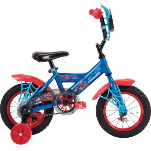 Huffy Marvel Spiderman Boys' Bicycle - Red/Blue Perspective: left