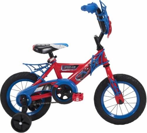Huffy Marvel Spider-Man Boys' Bicycle - Red/Blue Perspective: left