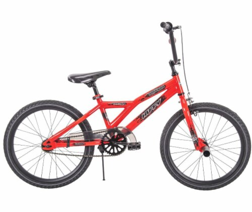 Huffy Shockwave Boys' Bicycle - Neon Red Perspective: left