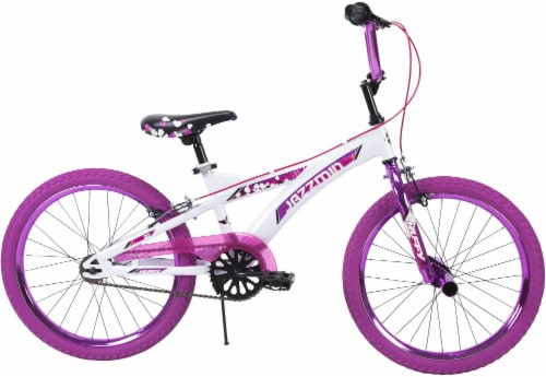 Huffy Jazzmin BMX-Style Girls' Bicycle - White/Hot Pink Perspective: left