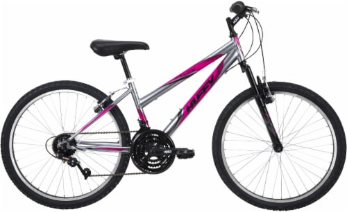 Huffy Women's Incline Mountain Bicycle - Silver/Purple Perspective: left