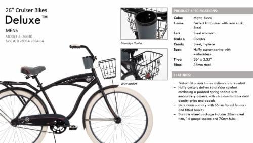 Huffy Men's Deluxe Cruiser Bike Perspective: left