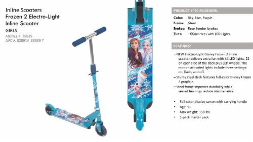 Huffy Disney Frozen 2 Inline Scooter Perspective: left