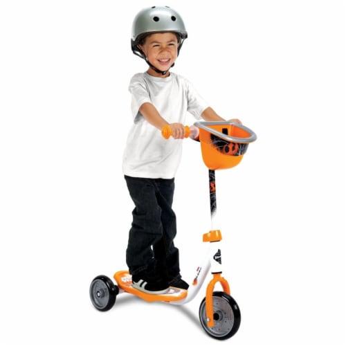 Huffy 78848 Star Wars BB8 Preschool Toddler Kick Scooter with Storage, Orange Perspective: left