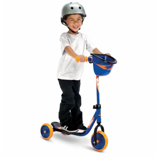 Huffy 78858 Star Wars Chewbacca Preschool Toddler Scooter with Storage, Blue Perspective: left