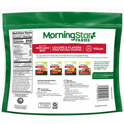 MorningStar Farms Frozen Veggie Vegan Buffalo Wings Family Size Perspective: left