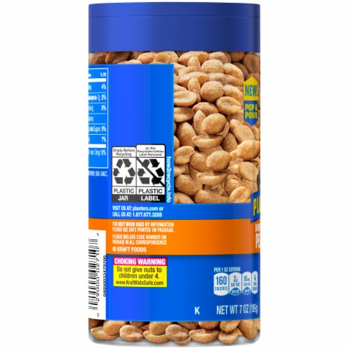 Planters Honey Roasted Peanuts Perspective: left