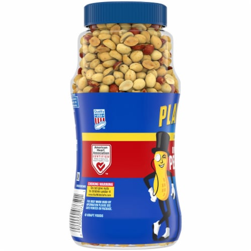 Planters Lightly Salted Dry Roasted Peanuts Perspective: left