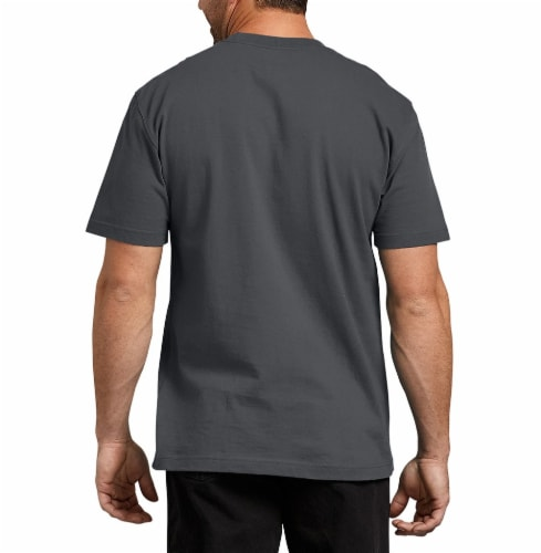 Dickies Men's Heavyweight Short Sleeve T-Shirt - Charcoal Perspective: left