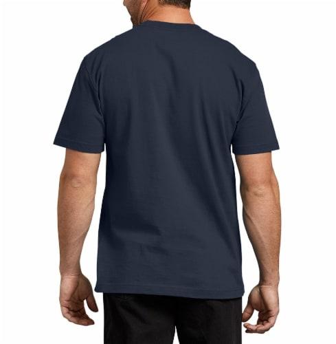 Dickies Men's Heavyweight Short Sleeve T-Shirt - Dark Navy Perspective: left