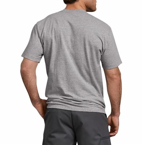 Dickies Men's Heavyweight Short Sleeve T-Shirt - Heather Gray Perspective: left