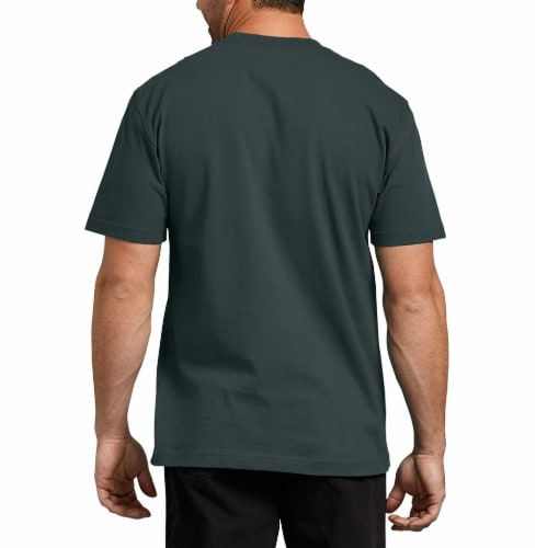 Dickies Men's Heavyweight Short Sleeve T-Shirt - Hunter Green Perspective: left
