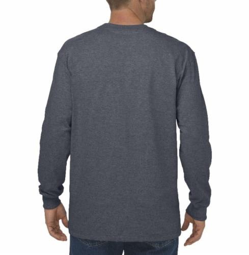 Dickies Men's Heavyweight Long Sleeve Crew Neck T-Shirt - Charcoal Perspective: left