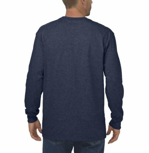 Dickies Men's Heavyweight Long Sleeve Crew Neck T-Shirt - Dark Navy Perspective: left